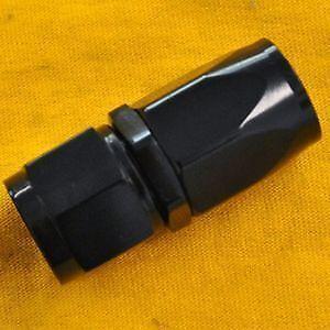Black 10 An Straight Swivel Hose End Fitting Braid