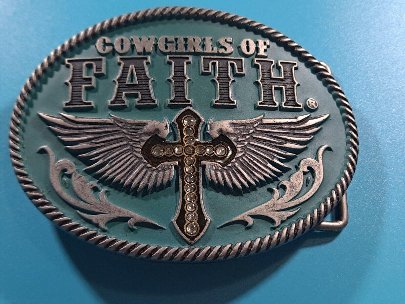 Montana Silversmiths Cowgirls Of Faith Ladies Belt Buckle B21