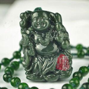 Natural-Hand-carved-Chinese-Hetian-Jade-Pendant-Buddha