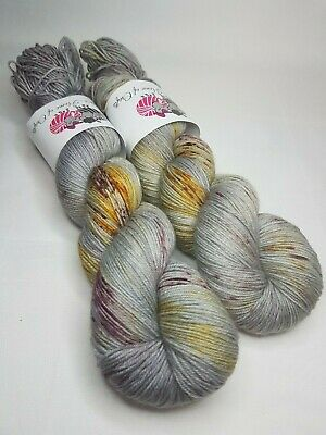 100g Hand dyed SW Merino Silk Cashmere yarn 4-ply Fingering weight TEAL