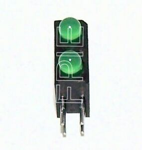 Lot of 10 Dual Vert Right Angle T1 Green LED 401-16961A