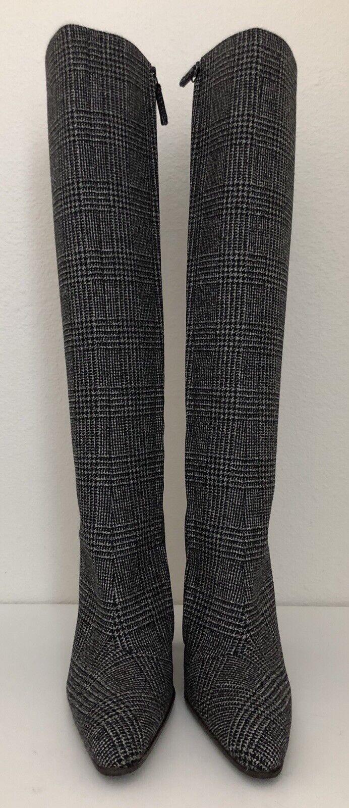 Balenciaga Knee High High High Boot Prince Of Wales Tweed High Boots  sz 35 5  1790 6be096