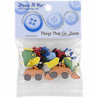 VAT Dress It up Things That Go Zoom 10 Buttons Craft Sew Knit 4243