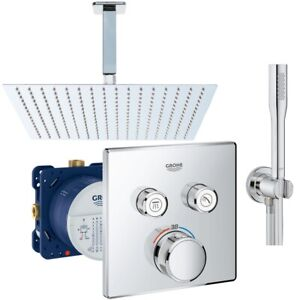Bevorzugt Grohe Grohtherm SmartControl Thermostat Unterputz Duscharmatur Set CO49