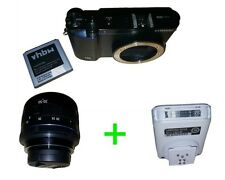 Samsung NX3300 Smart Systemkamera 20.3MP, Schwarz + OIS 20-50mm Objektiv + Blitz