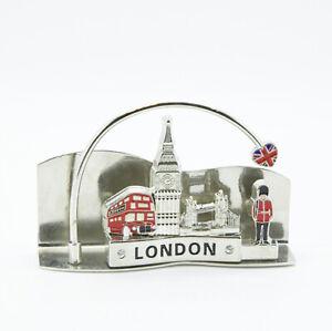 Londres Porte Carte Cartes De Visite Souvenir Angleterre, Big Ben, Tower Bridge, Bus-afficher Le Titre D'origine Forfaits à La Mode Et Attrayants