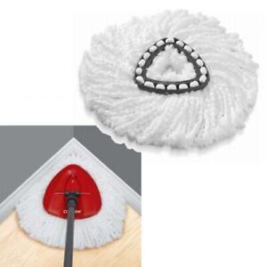 2pcs Weiß Ersatzköpfe Spin Mop Dreieck Mikrofaser Wischmop Für Bodenwischer