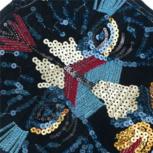 leopard head sequin embroidered fashion applique sew on patch diy clothe MuFDBU
