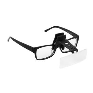 Precise-Magnifier-Folding-Clip-On-Flip-Eyeglass-Loupe-Magnifying-Handsfree-is