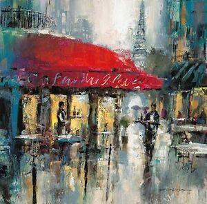 Brent Heighton: Paris Moderne II Keilrahmen-Bild Leinwand Städte ...