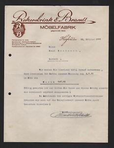 Möbel Brandt herford brief 1931 rekersbrink brandt möbel fabrik ebay