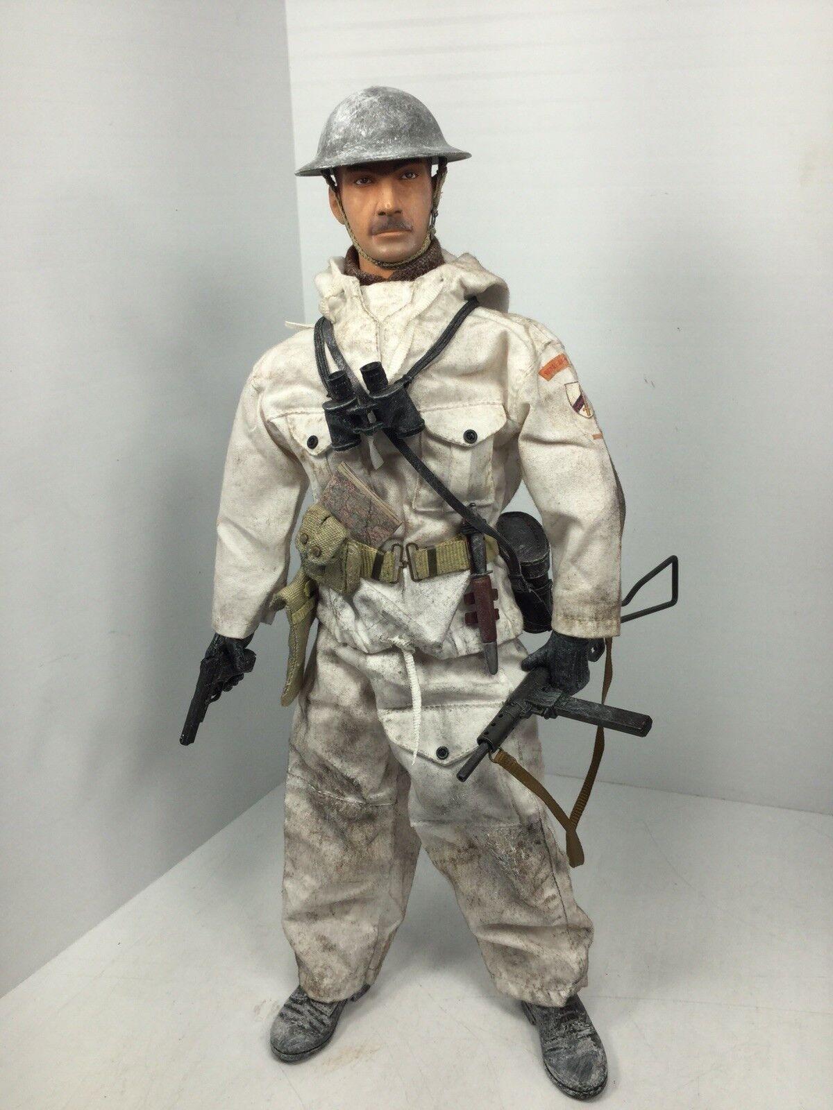 1 6 DRAGON BRITISH ARMORED BRIGADE OFFICER WINTER HI-POWER & STEN WW2 BBI DID 21