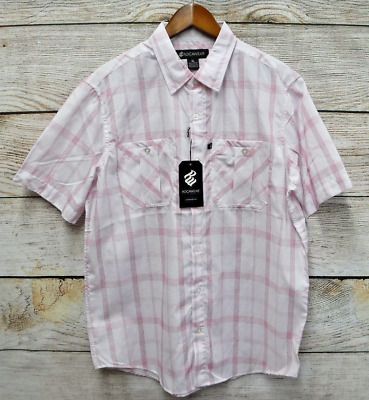 Rocawear Mens Size XLarge White /& Red Plaid Classic Fit Button Down Shirt New