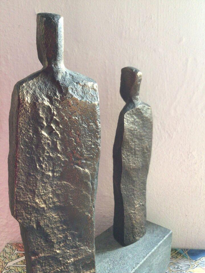 Bronzefigur, Erik Heide, motiv: 2 Borgere