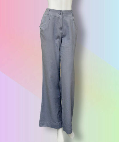 NEW Miss Selfridge Linen Trousers//Pants 8-16 NAVY//GREY//CREAM Summer Loose//Long