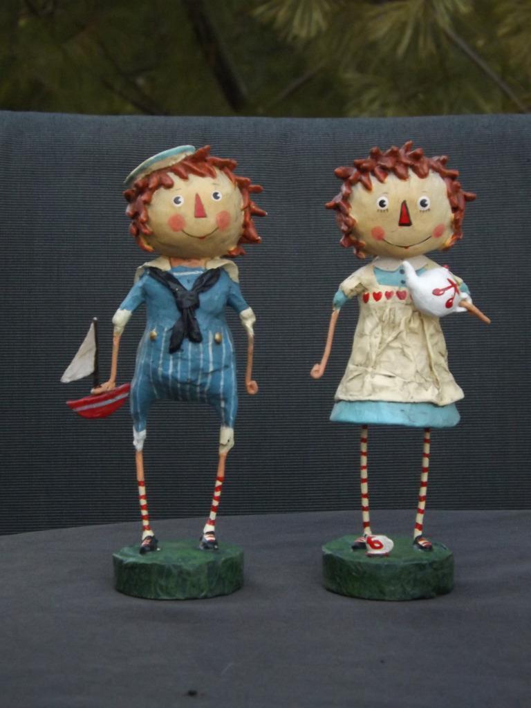 Nwot Lori Mitchell Raggedy Annie & Andy Folk Art Figurine Ann