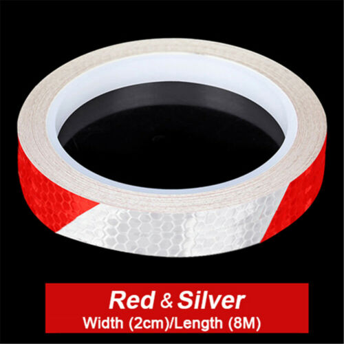 Bike Reflective Stickers Wheel Rim Decal Security Warning Tape Cycling Decor
