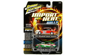 Johnny-Lightning-Mitsubishi-Lancer-Evo-Ralliart-2004-and-Honda-Civic-1-64
