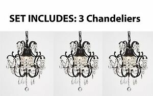 Wrought iron crystal chandelier island pendant lighting h14 w11 image is loading wrought iron crystal chandelier island pendant lighting h14 aloadofball Image collections
