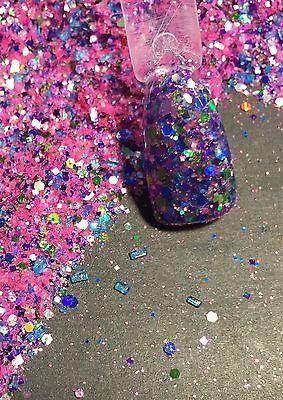 glitter mix acrylic gel nail art   crafts  RUSH HOUR