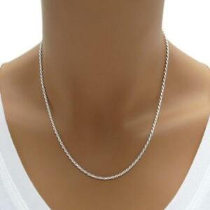 1-5MM-Solid-925-Sterling-Silver-Italian-DIAMOND-CUT-ROPE-CHAIN-Necklace-Italy