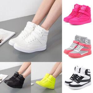 Details zu Damen Stiefel Turnschuhe Aufzugsschuhe Stiefelette Sneaker Wedges Boots Gr 35 40