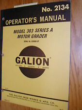 galion t500 a operators manual motor grader operation maintenance rh ebay com Galion Grader Pull Behind Galion Graders Baseball