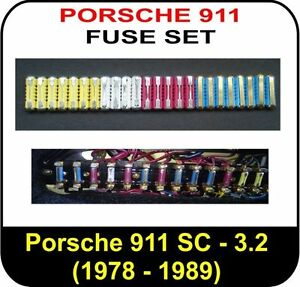 d0 full fuse set for porsche 911 1978 1989 3 0 3 2 carrera turbo rh ebay co uk 1985 porsche 911 fuse box diagram porsche 911 996 fuse box diagram