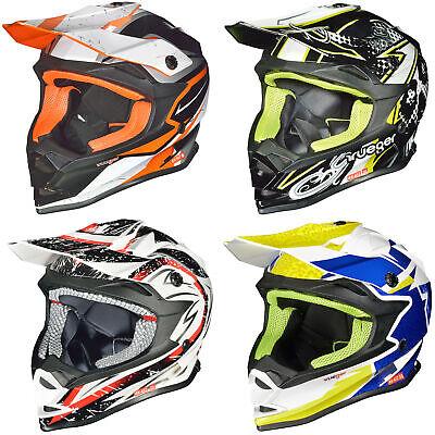 Helm Kinderhelm Motorradhelm Crosshelm Motocrosshelm Sport Orange XL