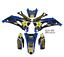 2003-2004-YAMAHA-WR-250-450-WR250F-WR450F-GRAPHICS-ROCKSTAR-BLUE-BLACK-DECAL miniature 1