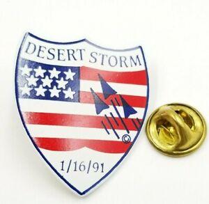 Desert Storm Shield Pin or Brooch 1991