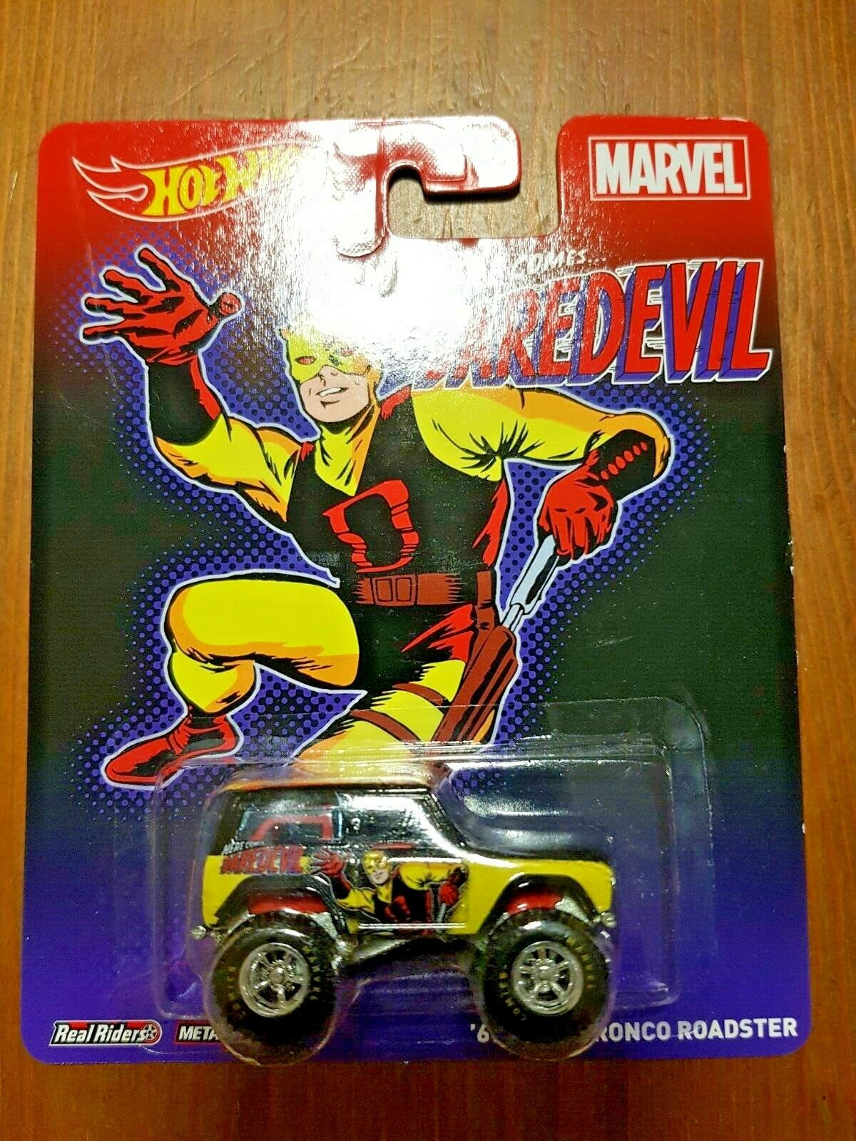 Hot Wheels MARVEL Dare devil'67 FORD BRONCO real riders NEUF