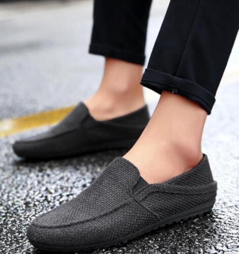 Homme Bout Rond Plat Décontracté Respirant Slip On Mocassins De Conduite Mocassins Chaussures