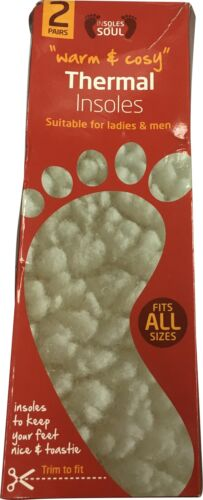 2 blanches unique Semelles chaussure paires thermique avec Bnwt bordure pour 8T6WqawB6