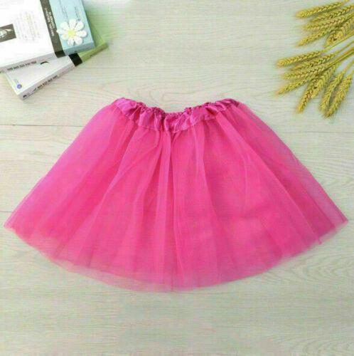 Kids Girls 3 Ballet Dance Dress Skirt Layer Tutu Tulle Pettiskirt Costume