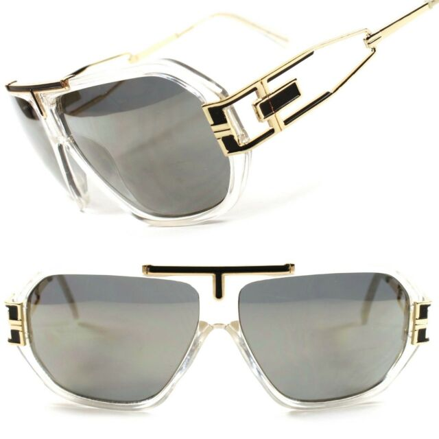 Mirrored Vintage Retro Hip Hop DJ Mens Womens Swag Aviator Revo Sunglasses C38D