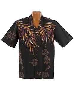Big and Tall Natural Shoulder Fern Aloha Shirt