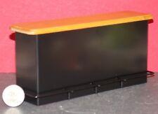 Dollhouse Miniature 1950's Counter Bar Black & Oak Top 1:12 one inch scale F50
