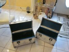 Qty 2 Road cases/Flight Cases Inside 19 x 8.4 x 12 White small UPS cases