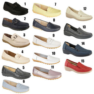 Womens-Ladies-Girls-Loafers-Flat-Casual-Office-Work-School-Deck-Shoes-Uk-Sizes