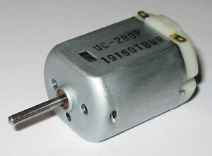 UC-280P-Electric-Motor-12VDC-9000-RPM-Knurled-Shaft-Automotive-DC-Motor