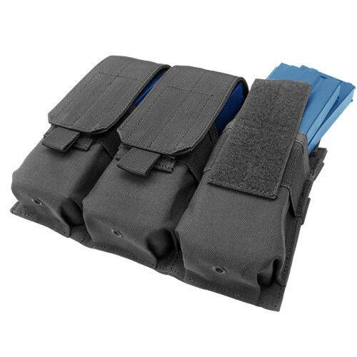 CONDOR ma58 MOLLE Modular Triple 5.56 Six Rifle Mag Nylon Pouch - BLACK
