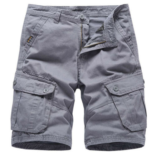 Mens Army Tactical Cargo Shorts Outdoor Work Pockets Casual Shorts Half Pants