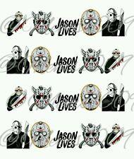 Jason nail Decals water decals Halloween nail art ~ Jason Voorhees