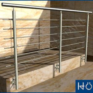 3m edelstahl gel nder handlauf balkongel nder rundstahl ebay. Black Bedroom Furniture Sets. Home Design Ideas