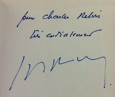 rare 1982  ENVOI dédicace Louis Pauwels : Romans