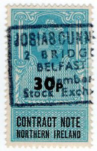 I-B-Elizabeth-II-Revenue-Contract-Note-Northern-Ireland-30p