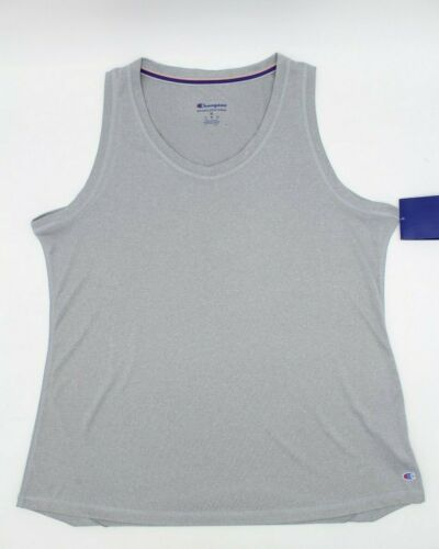 Champion Women/'s Double Dry Heather Gray Tank Top Activewear NWT size XL