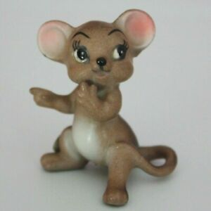 RARE-Vintage-Josef-George-Originals-MOUSE-Miniature-Mini-Figurine-with-Labels