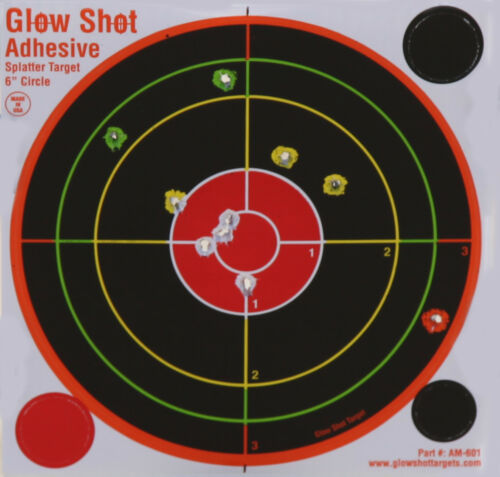 "GlowShot 6"" Adhesive Reactive Splatter Shooting Targets 200 Pack, Multi Colour"